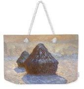 Haystacks, Snow Effect Weekender Tote Bag