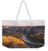 High Angle View Of A River Passing Weekender Tote Bag