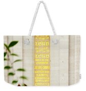 Holiness To The Lord Weekender Tote Bag