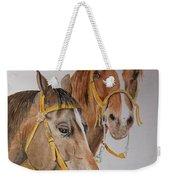 2 Horses Weekender Tote Bag