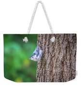 Huthatch Bird  Nut Pecker In The Wild On A Tree Weekender Tote Bag