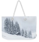Huts And Winter Landscapes Weekender Tote Bag