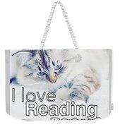 I Love Reading Books Weekender Tote Bag