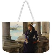 In The Belfry Of The Campanile Of St Marks Venice Henry Woods Weekender Tote Bag