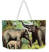Indian Elephant, Endangered Species Weekender Tote Bag