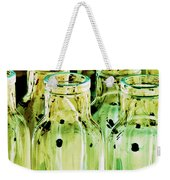 Iridescent Bottle Parade Weekender Tote Bag