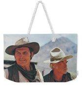 Jack Palance And Lee Marvin Monte Walsh Set Old Tucson Arizona 1969 Weekender Tote Bag