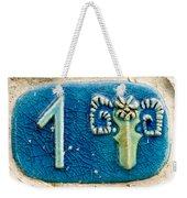 Jaffa, Zodiac Street Sign  Weekender Tote Bag