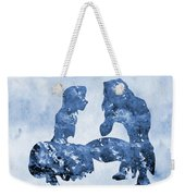 Jane And Tarzan-blue Weekender Tote Bag