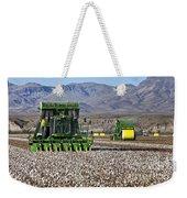 John Deere Cotton Pickers Harvesting Weekender Tote Bag