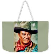 John Wayne, Hollywood Legend By John Springfield Weekender Tote Bag