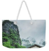 Karst Mountains Rural Scenery Weekender Tote Bag