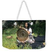 Kashia Pomo Woman Weaving Weekender Tote Bag