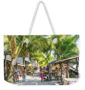 Koh Rong Island Main Village Bars In Cambodia Weekender Tote Bag