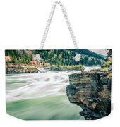 Kootenai River Water Falls In Montana Mountains Weekender Tote Bag