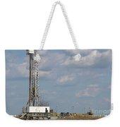 Land Oil Drilling Rig On Oilfield Weekender Tote Bag