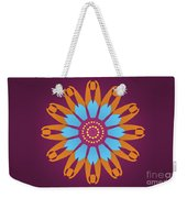 Landscape Purple Back And Abstract Orange And Blue Star Weekender Tote Bag