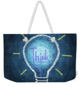 Light Bulb Design Weekender Tote Bag by Setsiri Silapasuwanchai