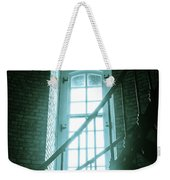 Light Through The Currituck Window - Text Weekender Tote Bag