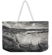Lighthouse And Cliffs Weekender Tote Bag