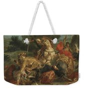 Lion Hunt Weekender Tote Bag