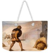 Lion In The Arena Weekender Tote Bag