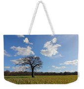 Lone Oak Tree In English Countryside Weekender Tote Bag