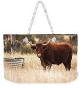 Longhorn Cow In The Paddock Weekender Tote Bag