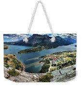 Looking Down On Waterton Lakes Weekender Tote Bag