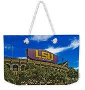 Lsu Tiger Stadium Weekender Tote Bag by Scott Pellegrin