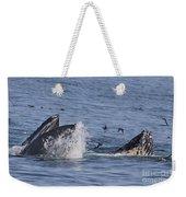 Lunge-feeding Humpback Whales Weekender Tote Bag