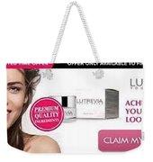 Lutrevia Cream Weekender Tote Bag