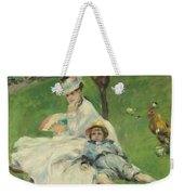 Madame Monet And Her Son Weekender Tote Bag