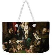 Madonna Of The Rosary Weekender Tote Bag by Caravaggio