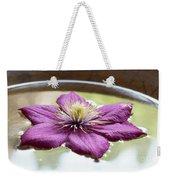 Clematis Flower On Water Weekender Tote Bag