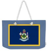 Maine Flag Weekender Tote Bag