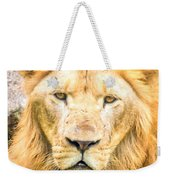 Majestic Lion Weekender Tote Bag