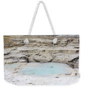 Mammoth Hot Springs Upper Terraces In Yellowstone National Park Weekender Tote Bag