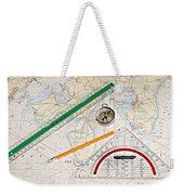 Map Weekender Tote Bag