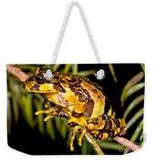 Marbled Wood Frog Weekender Tote Bag