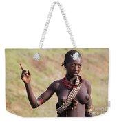 member of the Bena Tribe, Omo Valley Weekender Tote Bag