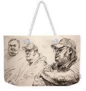 Men At Cafe Weekender Tote Bag