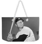 Mickey Mantle (1931-1995) Weekender Tote Bag by Granger