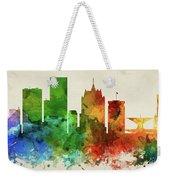 Milwaukee Skyline Panorama Uswiml-pa03 Weekender Tote Bag