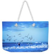 Morning Sunrise Over Ocean Waters Weekender Tote Bag