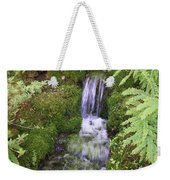 Mossy Waterfall Weekender Tote Bag