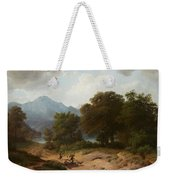 Mountainous Landscape With Shepherds Weekender Tote Bag