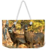 Mule Deer In The Woods Weekender Tote Bag