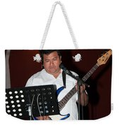 Musicians In The Park Candelaria In Valladolid Weekender Tote Bag