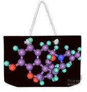 Naloxone, Molecular Model Weekender Tote Bag